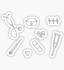 Nurse / Nursing Student Doodle Sticker Set Sticker