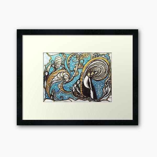 Whirling wizard Framed Art Print