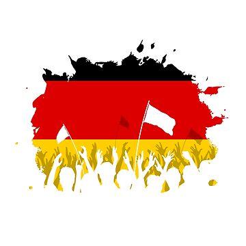Celebrating Crowd with German flag by idollisimo