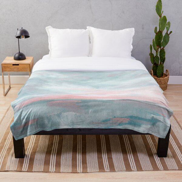 Waves of Change - Stormy Sea Seascape Throw Blanket