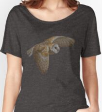 Bubbly Barn Owl Women's Relaxed Fit T-Shirt