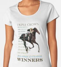 Triple Crown Winners 2015 American Pharoah Women's Premium T-Shirt