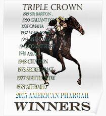 Triple Crown Winners 2015 American Pharoah Poster
