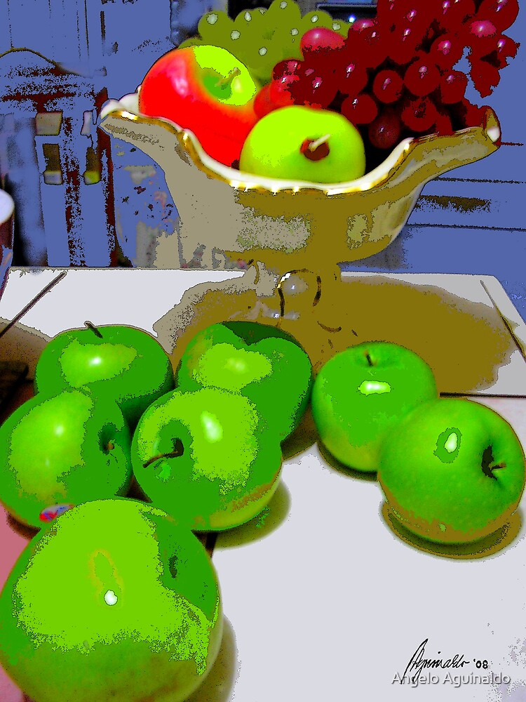 Green Apples 4 by Angelo Aguinaldo