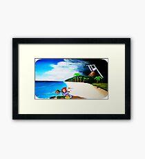 Link's Awakening Washed Ashore  Framed Print