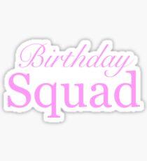 Cute Birthday Squad Party Favor Gift Shirt Stickers Travel Mug Sticker