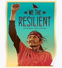 Women's March on Washington Vintage We The Resilient Native American Poster