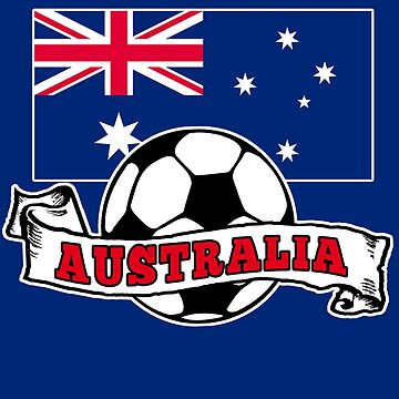 AUSTRALIA SOCCER with Aussie Flag by Greenbaby