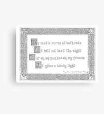 First Fig - Edna St Vincent Millay Canvas Print