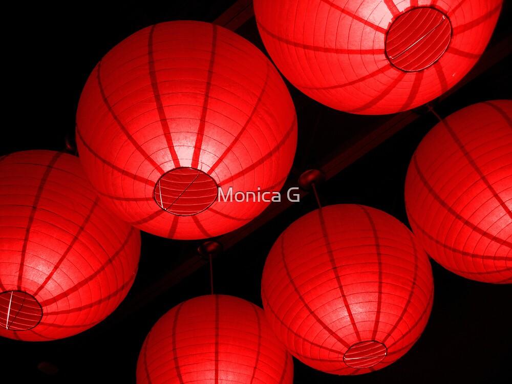 Red Lanterns by Monica G