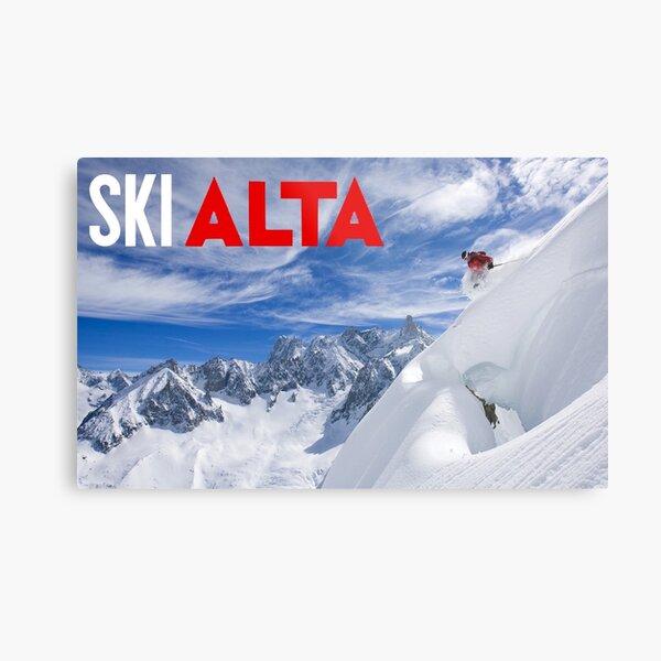 Ski Alta Poster Metal Print