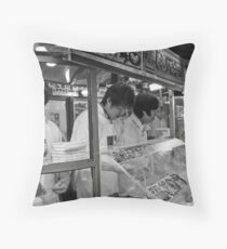 Candy Vendors Throw Pillow