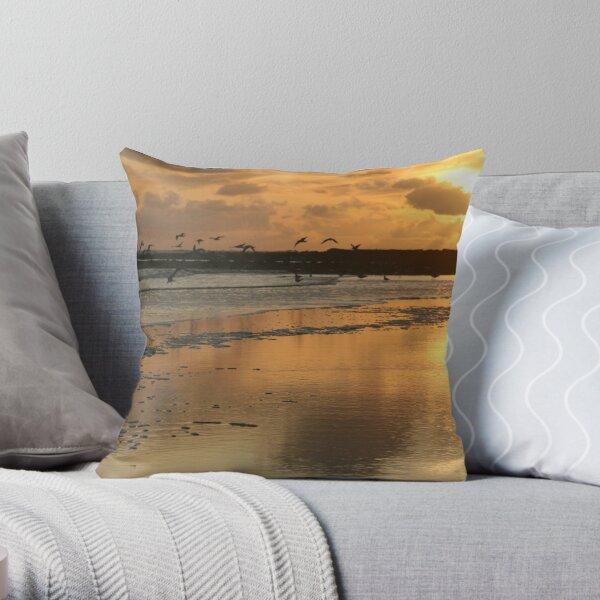 Sunset - Beadnell Bay - Northumberland Throw Pillow
