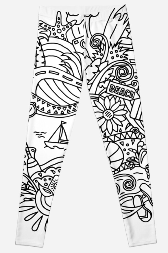 Legging «Verano / Dibujos para colorear» de Albert Buchatskyy ...