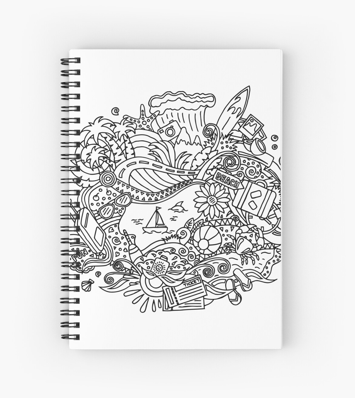 Cuadernos de espiral «Verano / Dibujos para colorear» de Albert ...