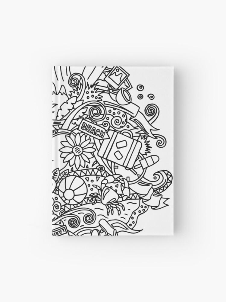 Verano Dibujos Para Colorear Cuaderno De Tapa Dura