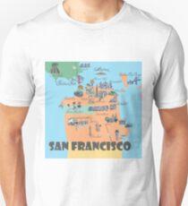 San Francisco California Highlights Maps Unisex T-Shirt