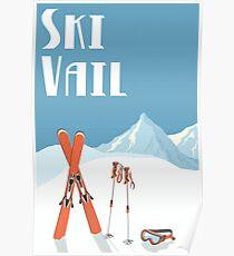 Ski Vail Vintage Poster Poster