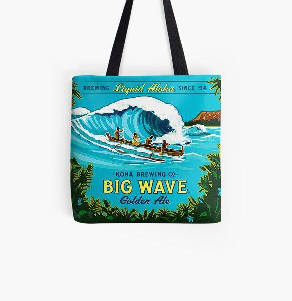 Kona Big Wave All Over Print Tote Bag
