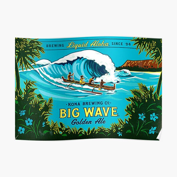 Kona Big Wave Poster
