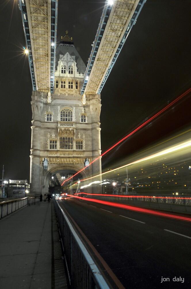 tower bridge bus by jon  daly