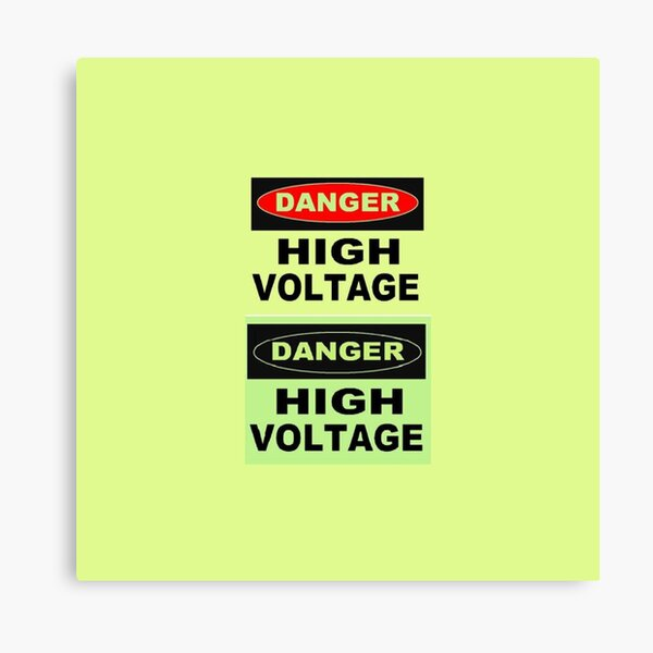 SIGN, Danger, High Voltage Canvas Print
