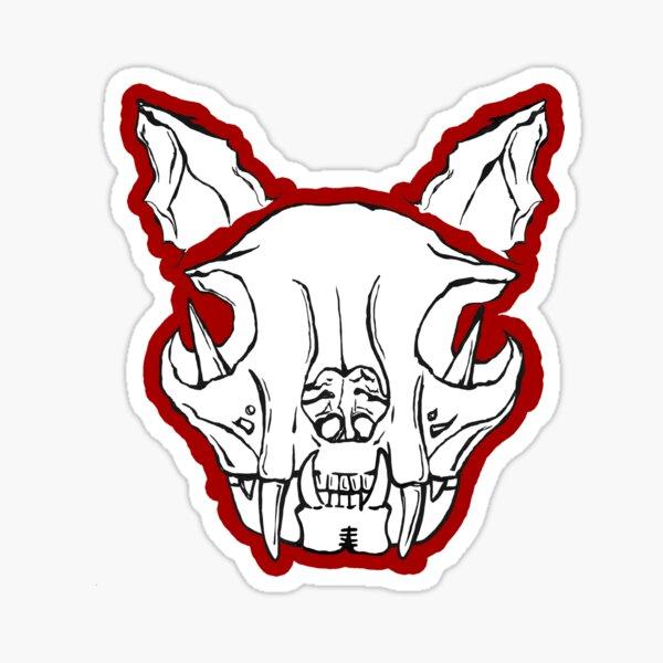 Cat skull pattern Sticker