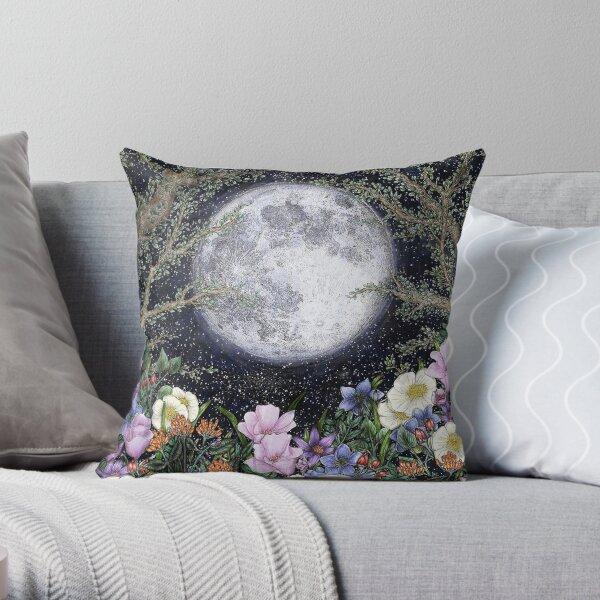 Midnight in the Garden II Throw Pillow