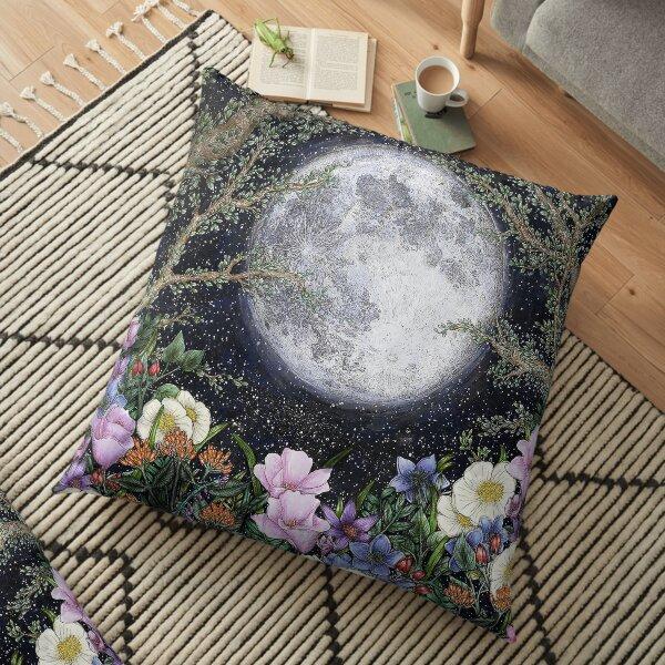 Midnight in the Garden II Floor Pillow