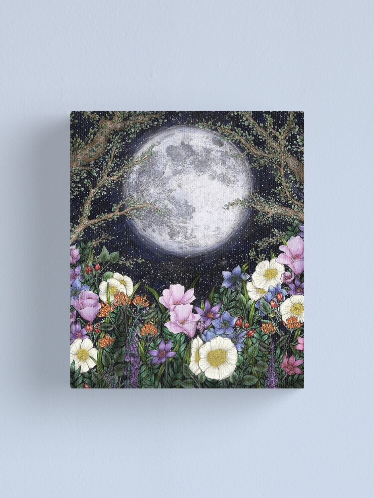 Alternate view of Midnight in the Garden II Canvas Print