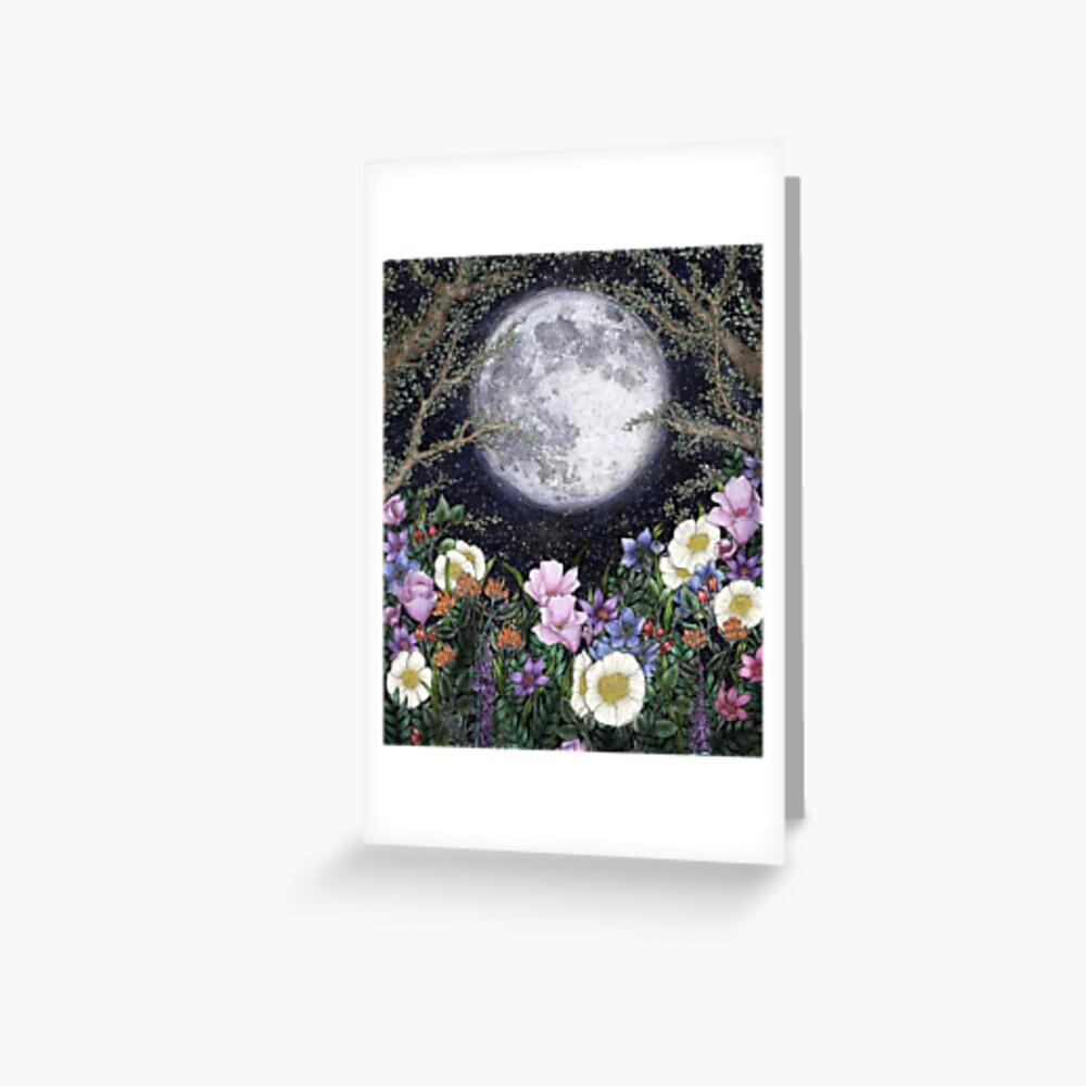 Midnight in the Garden II Greeting Card