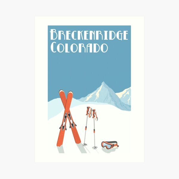 Vintage Breckenridge Colorado Poster Art Print