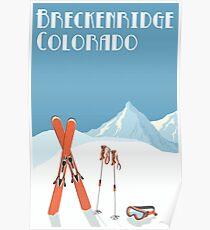 Vintage Breckenridge Colorado Poster Poster