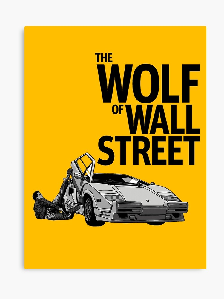 The Wolf Of Wall Street Lamborghini Countach Canvas Print By