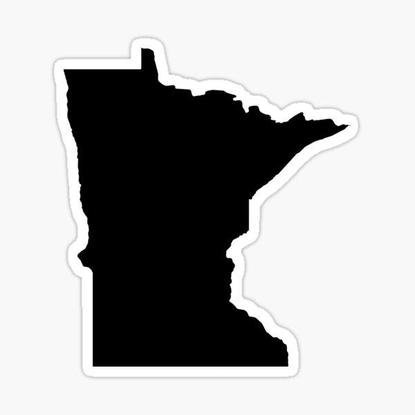 Black Minnesota Sticker