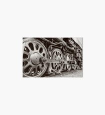 Big Steam Train Wheels Keep Rolling Art Board