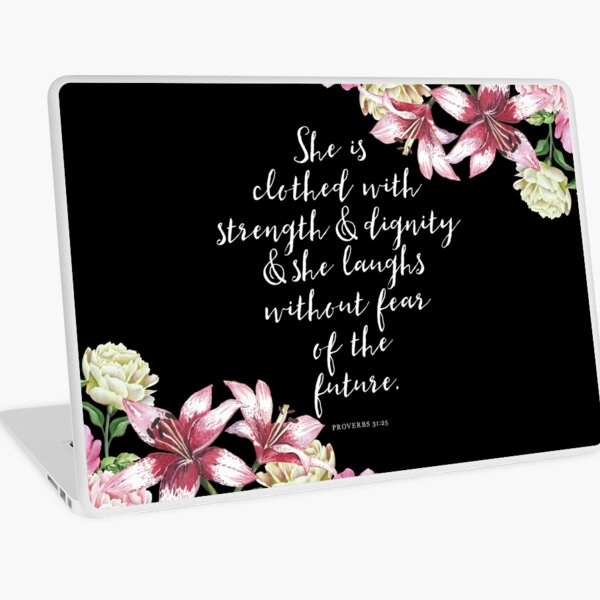 Christian Proverbs  Laptop Skin