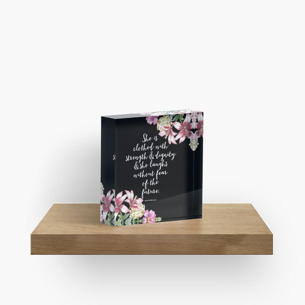 Christian Proverbs  Acrylic Block