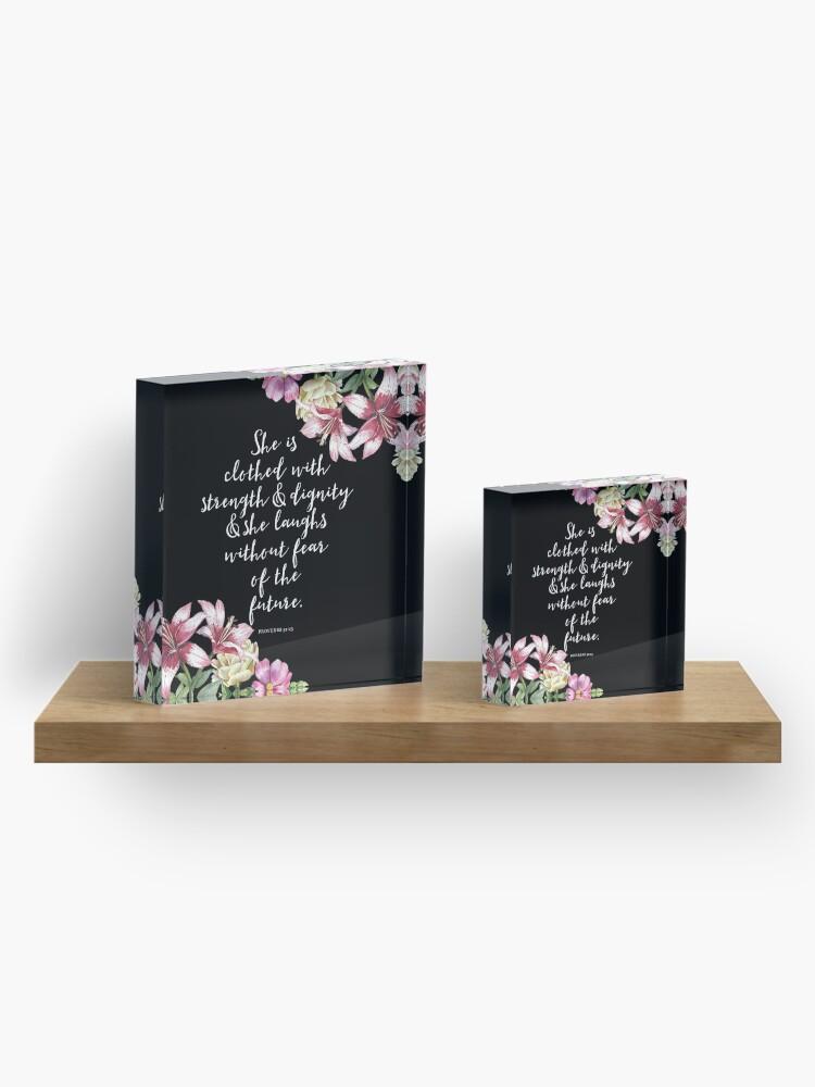 Alternate view of Christian Proverbs  Acrylic Block