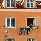 Washing and Windows of Lisbon by Sue Knowles