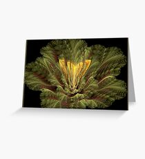 APO EXOTIC 3D PLANT Greeting Card