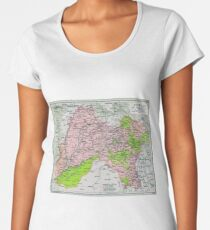 Map of Punjab, circa 1909 Women's Premium T-Shirt