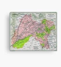 Map of Punjab, circa 1909 Canvas Print