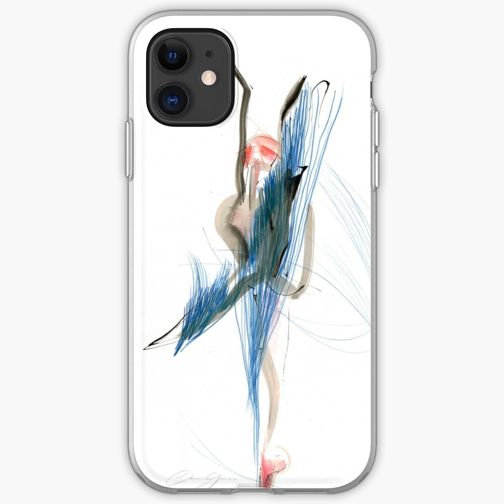 Expressive Dance Drawing iPhone Case & Cover