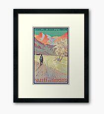 Valley of Munster, France Vintage Travel Ski Poster Framed Print
