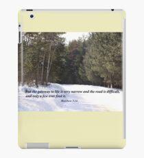 Matthew 7:14 iPad Case/Skin