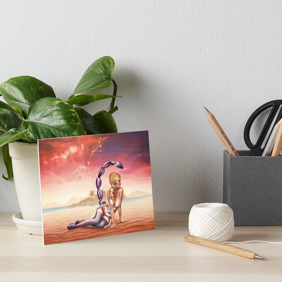 Scorpio OC - 12 Zodiac Ladies Art Board Print