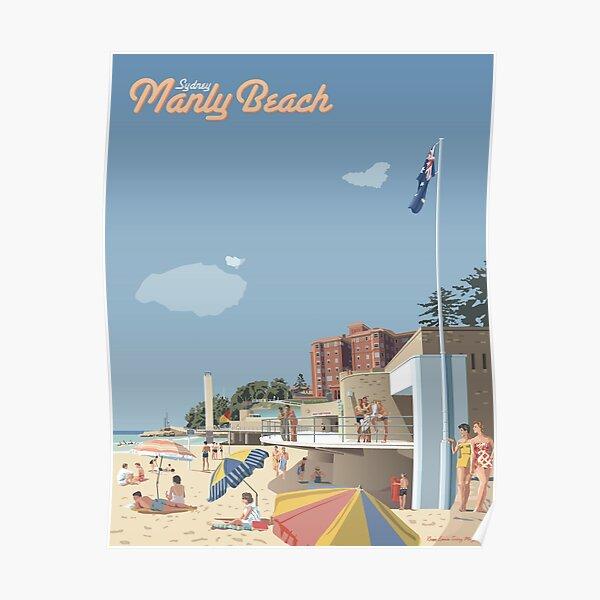 Manly Beach, Sydney, 1951 Poster
