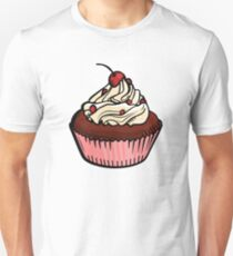 Cherry Chocolate Cupcake Unisex T-Shirt