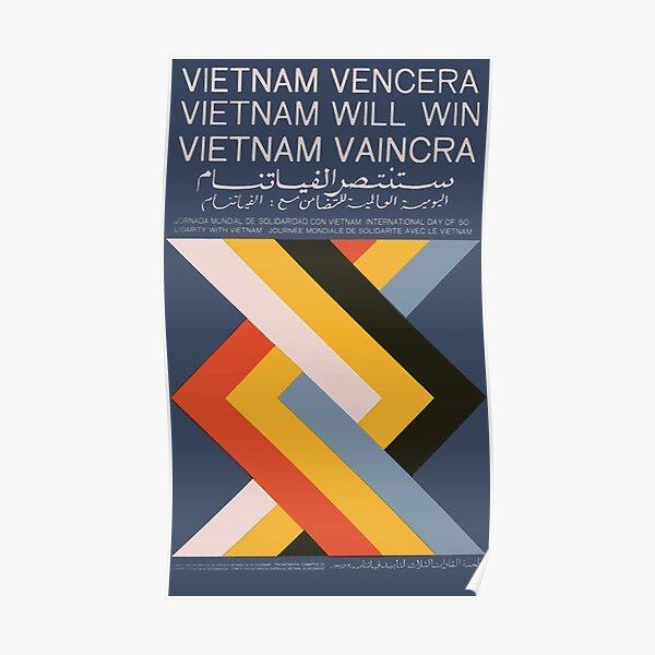 """""""Le Vietnam va gagner / Vietnam Vencera / Vietnam Vaincra"""" Cuba Propagande au Vietnam Félix Beltrán, 1968 Poster"""